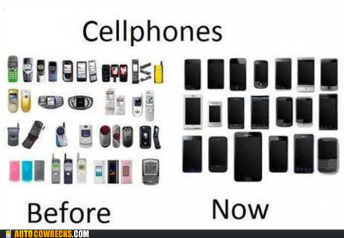 before,black,colorful,now,phones,the future,the past