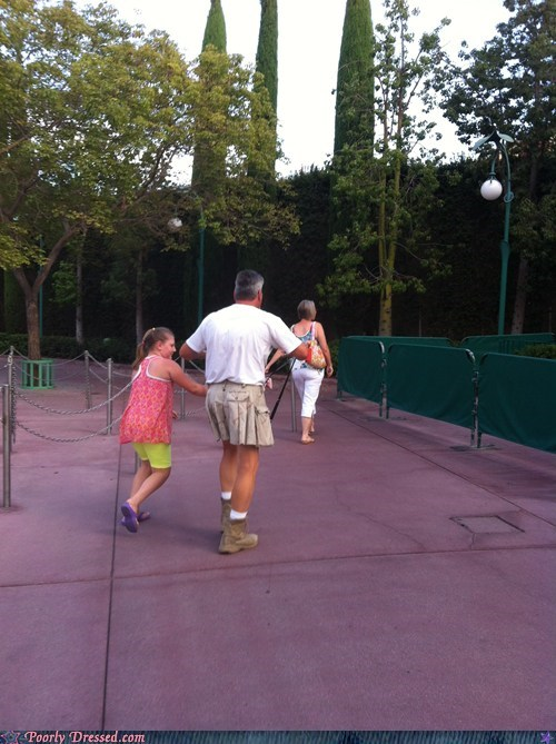 dad,dads,disneyland,kilt,utilikilt,vacation