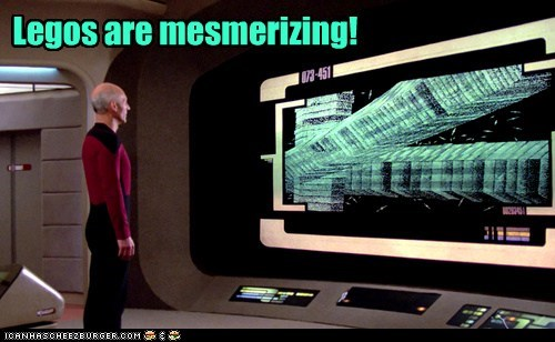 Captain Picard,legos,mesmerized,patrick stewart,Star Trek,step on a lego,the next generation,TNG
