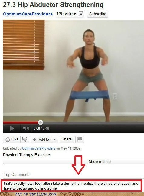 exercise,pooptimes,toilet paper,youtube