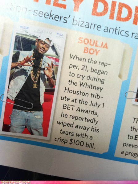 celeb feels funny Music rap respect soulja boy whitney houston wtf - 6443933696