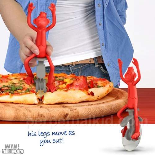 cute design monkey pizza pizza cutter - 6444054272