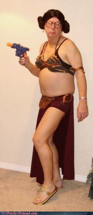 cosplay cross dressing leia nerdgasm slave leia star wars
