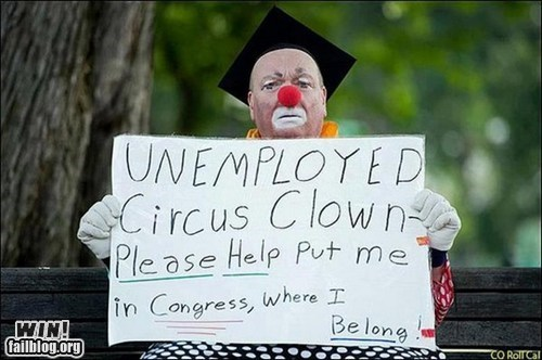 best of week,clown,Congress,employment,g rated,Hall of Fame,politics,unemployment,win