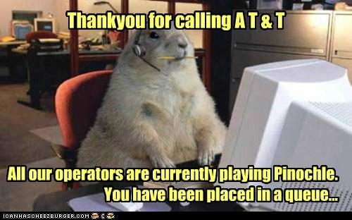 att,at&t,busy,calling,customer service,gopher,queue