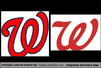Washington Nationals Baseball Logo Totally Looks Like Walgreens Pharmacy Logo Totally Looks Like