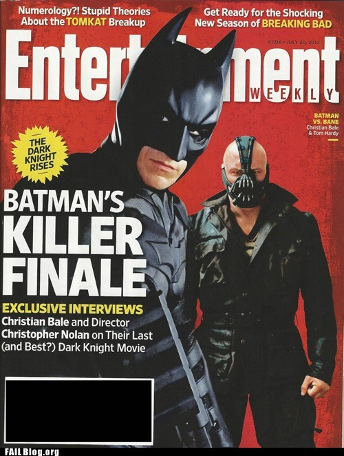 batman,cover,horrible timing,magazine,movies,the dark knight rises