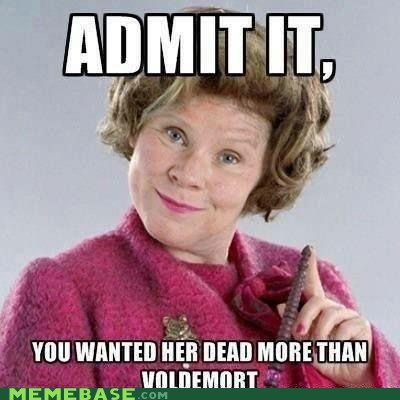 dolores umbridge Harry Potter Memes voldemort - 6444439552