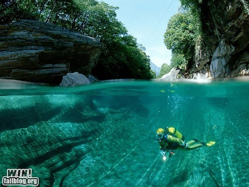 diving nation river scuba underwater vacation wincation