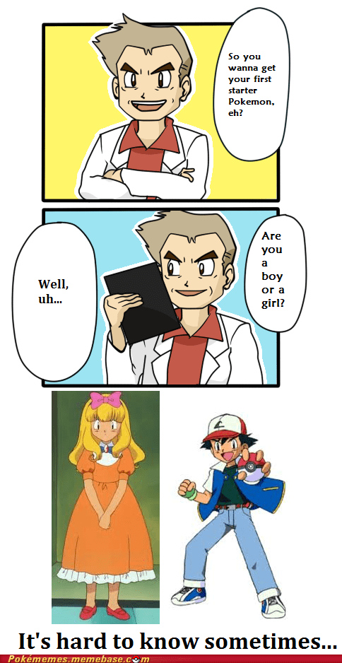 ash,boy or a girl,comic,professor oak