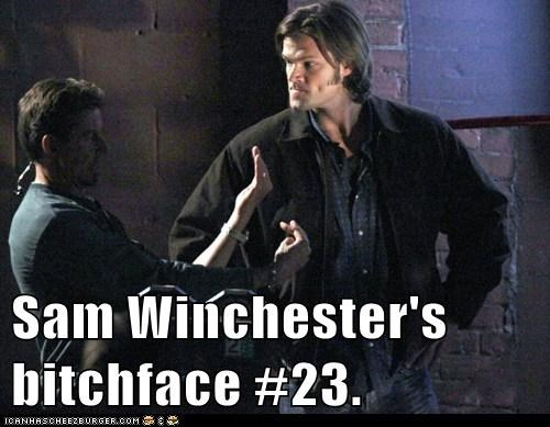 collect them all,face,Jared Padalecki,sam winchester,set,Supernatural