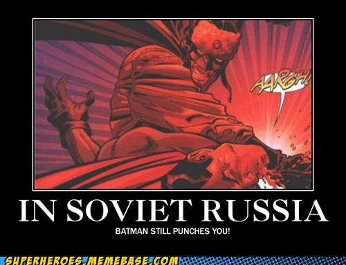 punch,batman,Soviet Russia