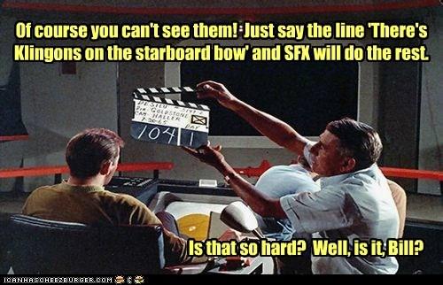 acting behind the scenes Captain Kirk klingons line Shatnerday special effects Star Trek uhura William Shatner - 6446747136