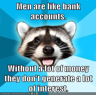 banks,interest,Lame Pun Coon,men,money