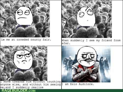 assassins creed crowd Rage Comics video games