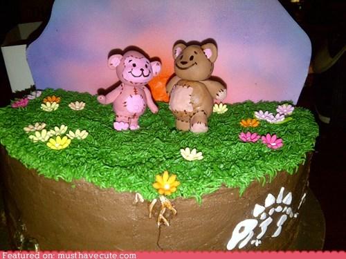 bear cake epicute fondant frosting monkey - 6447590912