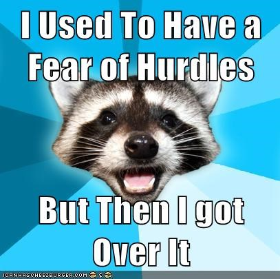 I Used To Have a Fear of Hurdles But Then I got Over It