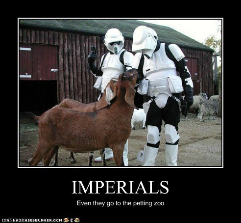 IMPERIALS Even they go to the petting zoo