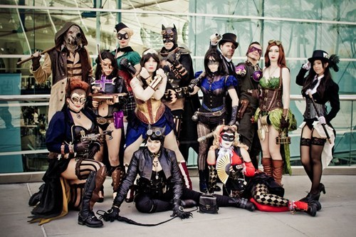 cosplay DC Steampunk superheroes