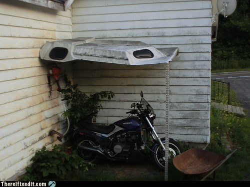 cover motorcycle rain roof