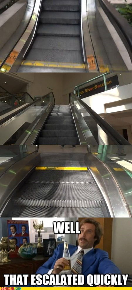 escalator,mall,that escalated quickly,the internets