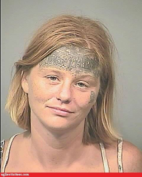 crappy picture forehead tattoos mug shots - 6450197504