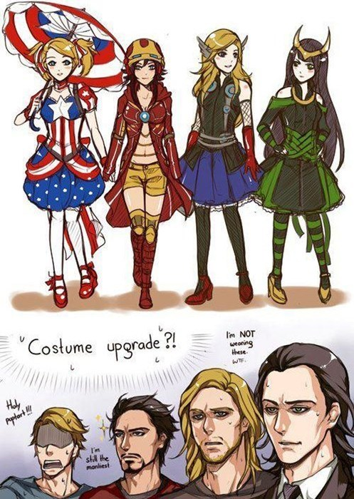 costume rule 63 avengers - 6450279424