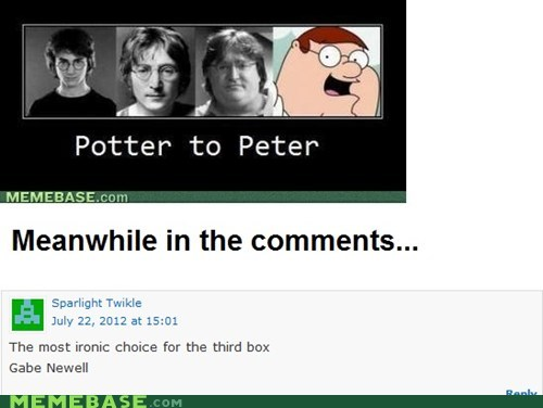 comments,episode 3,half life,Harry Potter,Meanwhile,Memes,video games