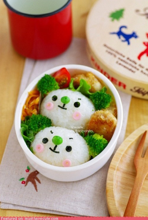 bento broccoli epicute face koala peas rice - 6450717184