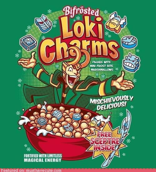 avengers,cereal,fake,loki