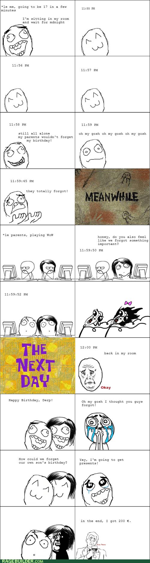birthday parenting Rage Comics WoW