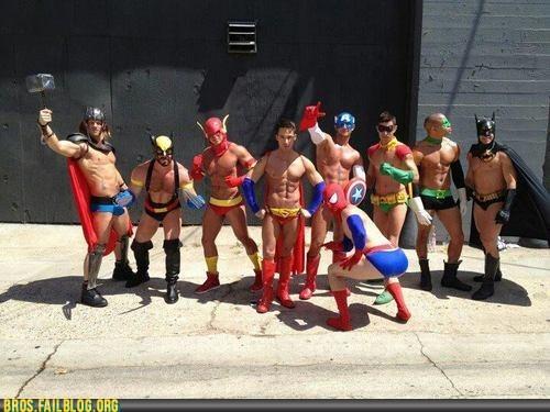 bros gay homosexual superheroes tights - 6450909184