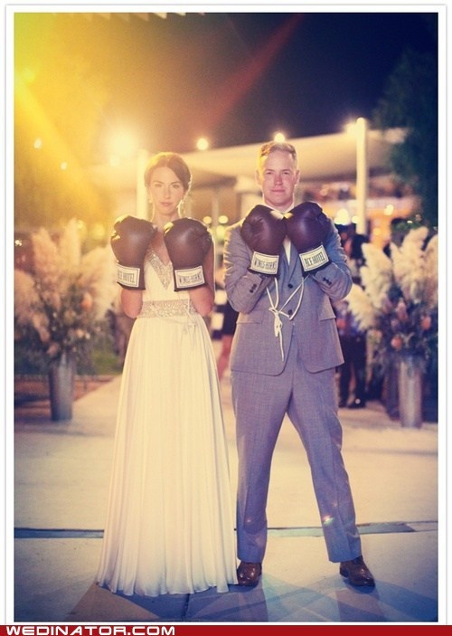 boxing,bride,funny wedding photos,groom,just pretty