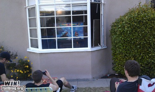 nerdgasm,outside,playing outside,video games