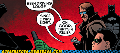 batman commissioner gordon damian driving mature off the page