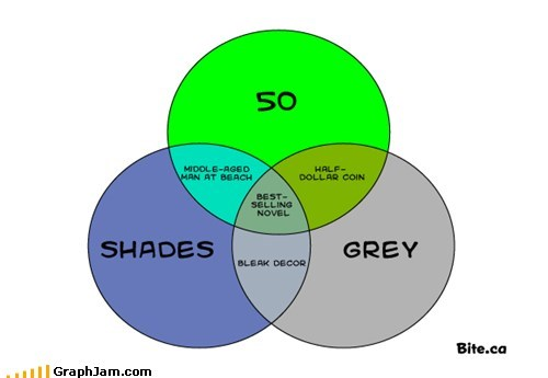 50 shades of grey,books,grey,sun bathing,venn diagram