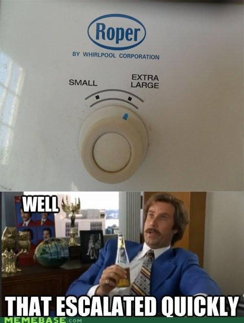 My washing machine has 2 settings...
