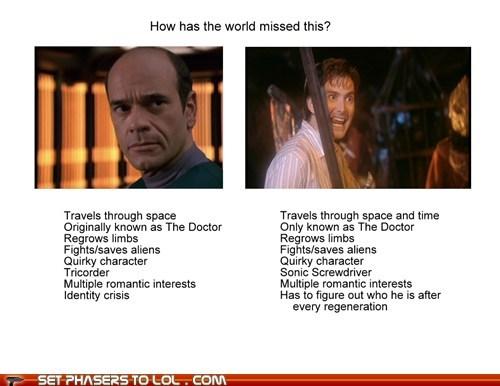 Aliens David Tennant doctor who limbs regeneration robert picardo similarities star trek voyager the doctor - 6451913216