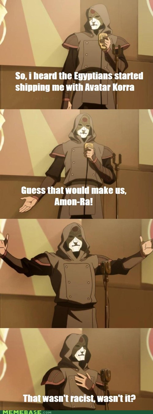 korra,bad joke Amon,It Came From the,It Came From the Interwebz,shipping