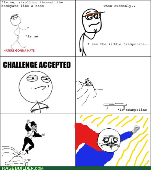Challenge Accepted,me gusta,Rage Comics,superman,trampoline