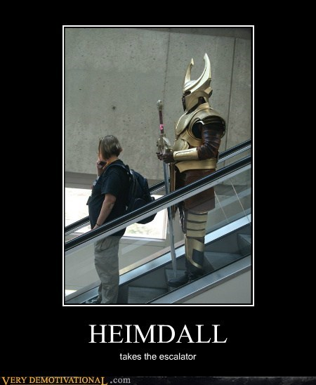 HEIMDALL takes the escalator