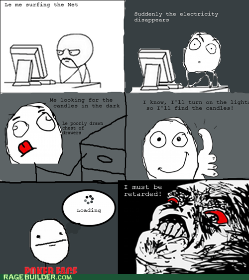 poker face,power outage,Rage Comics,raisin rage