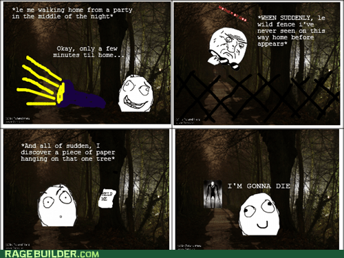 Death,Rage Comics,scary,slenderman