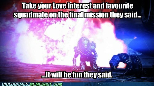 mass effect mass effect 3 the feels They Said
