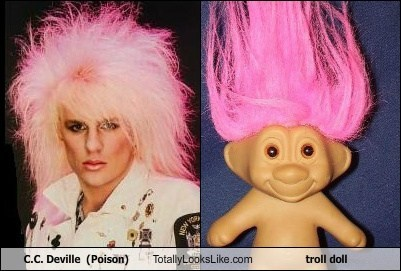 C.C. Deville (Poison) Totally Looks Like troll doll