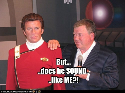 Captain Kirk,pausing,Shatnerday,sound,stand,Star Trek,William Shatner