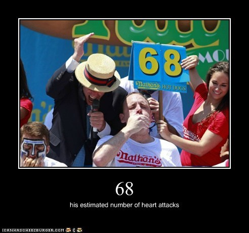 68 his estimated number of heart attacks