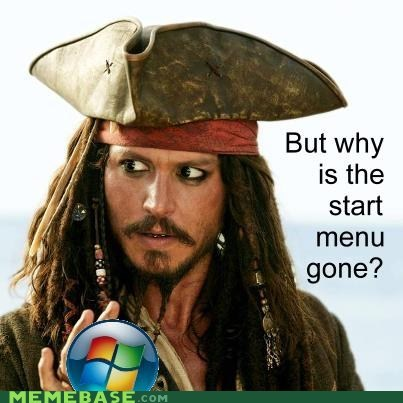 jack Memes Pirates of the Caribbean start menu vista windows - 6452920064