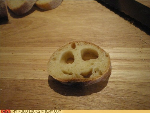 baguette bread face happy smile