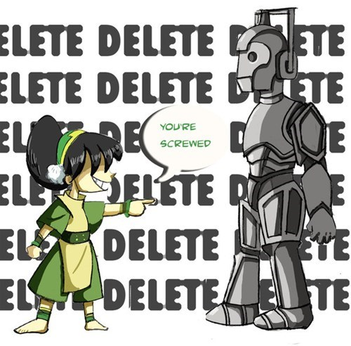 Avatar the Last Airbender,avatar-the-last-airbende,cartoons,crossover,cybermen,doctor who,Fan Art,scifi,toph
